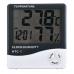 Метеостанция, термометр, гигрометр, часы, будильник HTC-1