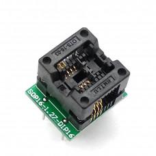 Переходник, адаптер к программатору SOIC8,SOP8-DIP8  200 mil